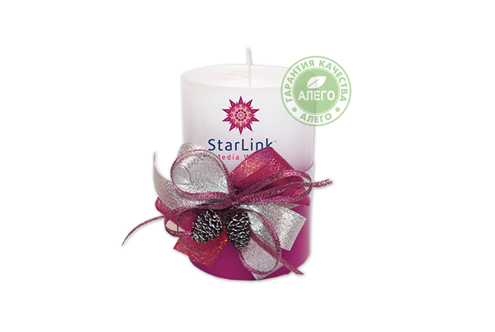 star-link Геометрические свечи с нанесеним логотипа